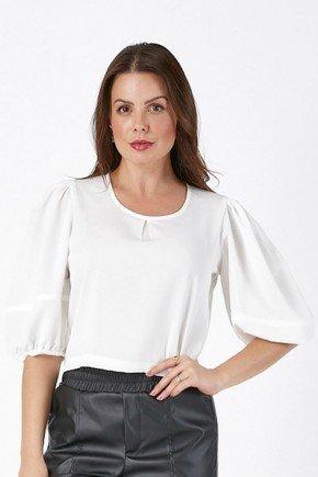 blusa feminina romana off white cloa cima