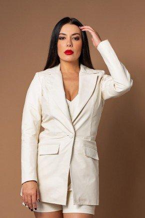 blazer classico maxi feminino pele mania cima