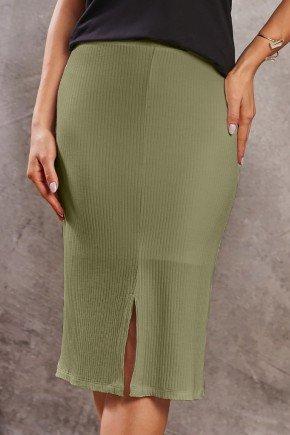 saia basica verde canelada com fenda via tolentino baixo