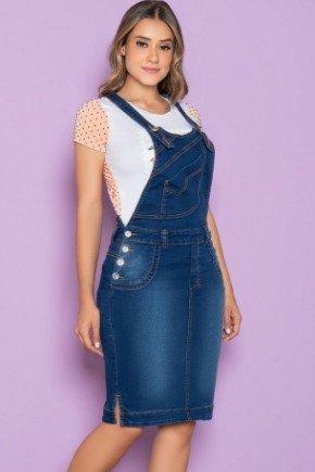 salopete jeans com pespontos destacados 1