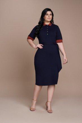vestido marinho plus size em malha denim titanium