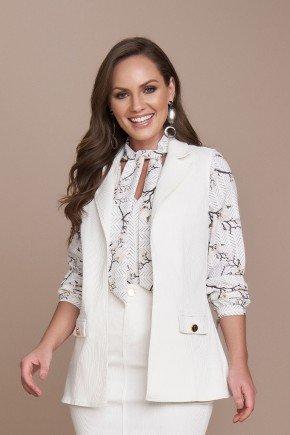 colete feminino alfaiataria off white titanium jeans cima