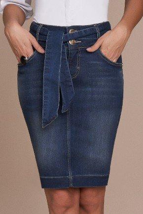 saia push up jeans com faixa para amarracao titanium baixo