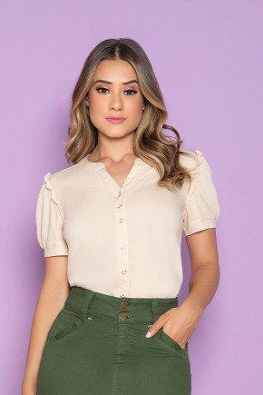 camisa feminina cru detalhe no decote nitido jeans cima