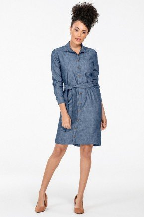 vestido chemise jeans mullet maite look book frente