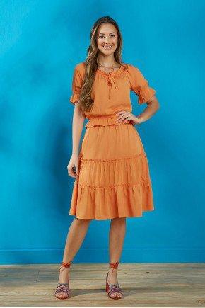 conjunto feminino laranja em viscose tata martello