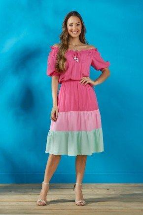 vestido pink ciganinha saia tres marias tata martello