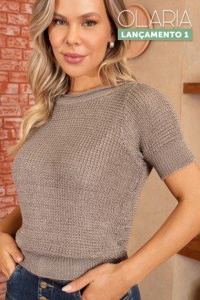 blusa tricot decote canoado