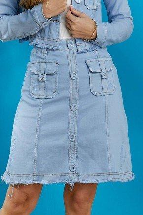 saia jeans evase azul bebe tata martello baixo