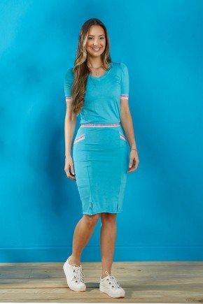 conjunto feminino azul claro detalhe elastico tata martello