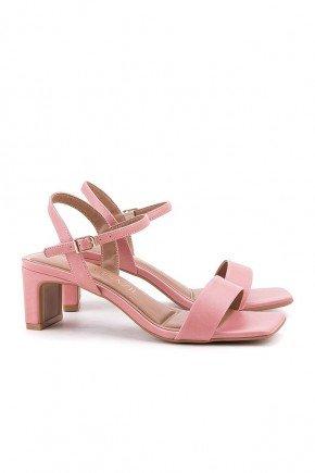 sandalia rosa salto baixo flora di valentini 2