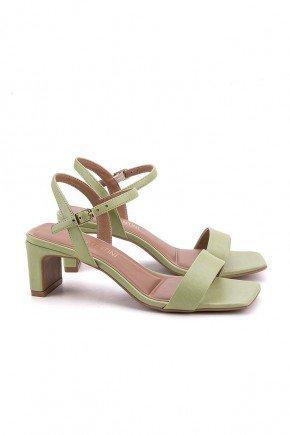 sandalia verde salto baixo flora di valentini 2