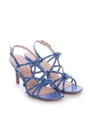 sandalia azul metalizado salto fino samy l atelier 2