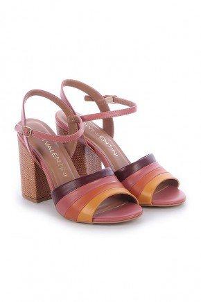 sandalia napa rosa salto grosso rubia di valentini 2