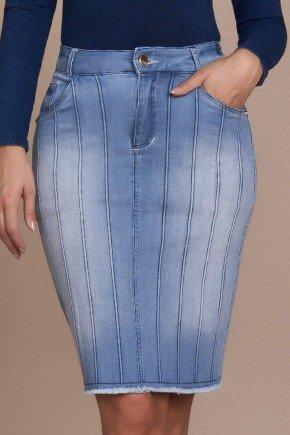 saia jeans detalhe em eva titanium baixo