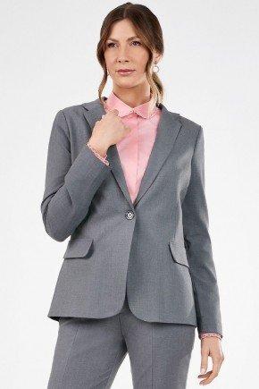 blazer cinza alongado paulina