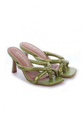 tamanco verde metalizado salto fino klairy di valentini 2