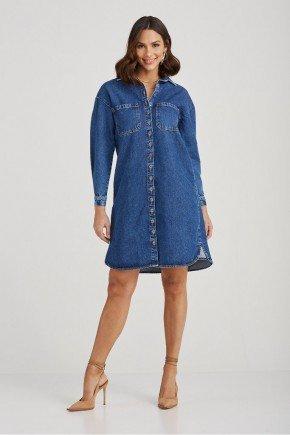 chemise jeans escuro bolsos frontais flora challot hadock 1