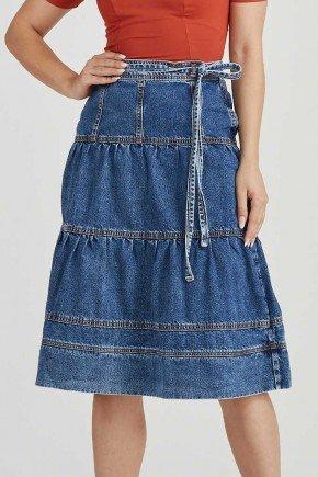 saia jeans escuro detalhes em recortes odete challot hadock 1