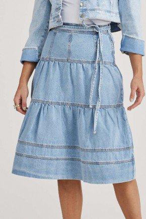 saia jeans claro detalhes em recortes odete challot hadock 1