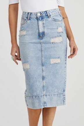 saia jeans reta midi pluidos frontal analu challot hadock 1