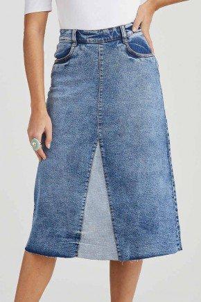saia jeans evase detalhe avesso aparecida challot hadock 1