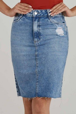 saia jeans secretaria detalhe rasgado carlota challot hadock 1