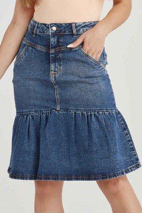 saia jeans evase azul escuro cleide challot hadock 1