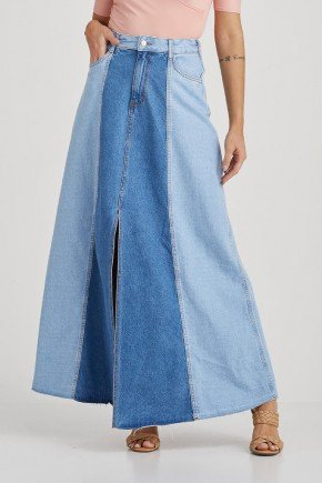 saia longa jeans fenda frontal zoe challot hadock 1
