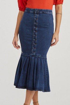 saia jeans maxi midi barra plissada estela challot hadock 1