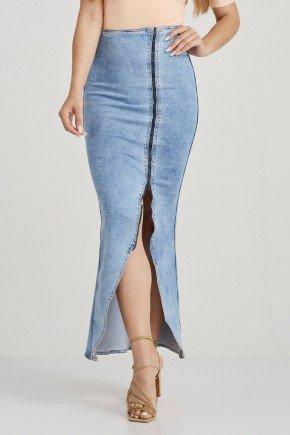 saia jeans longa abertura frontal cristina challot hadock 1