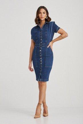 vestido jeans botoes frontais iolanda challot hadock 1