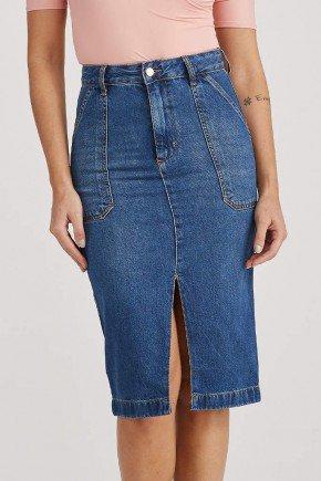 saia secretaria jeans fenda frontal joaquina challot hadock 1