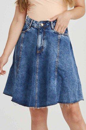 saia jeans evase barra desfiada karina challot hadock 1