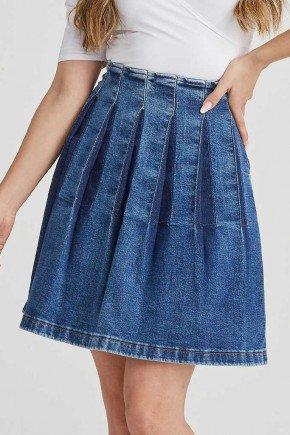 saia jeans evase detalhe em pregas carolina challot hadock 4