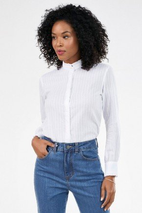 camisa feminina gola com drapeado naomi frente
