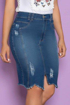 saia jeans barra com recorte assimetrico nitido jeans 1