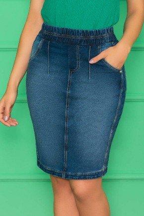 saia jeans em malha elastico no cos nitido jeans 1