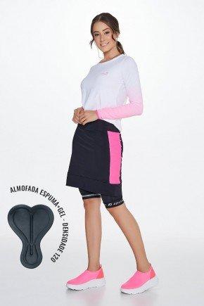 shorts saia ciclista com almofada epulari frente lado2