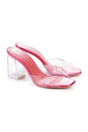 tamanco rosa salto e tira transparente natalie di valentini 1