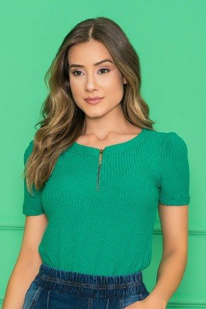blusa verde em malha canelada manga curta nitido jeans 4