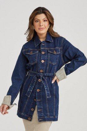 jaqueta longa jeans bolsos frontais cindy challot hadock 4