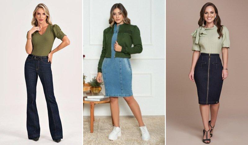 blog verde com jeans
