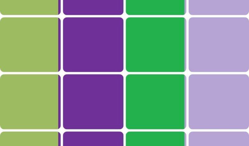 blog verde com roxo