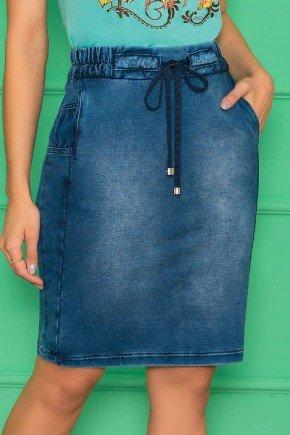 saia em malha denim detalhe em amarracao nitido jeans 4