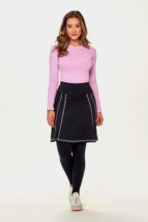 saia calca preta comprida moda fitness alta compressao poliamida epulari