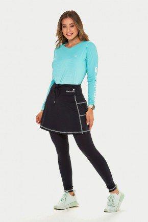 saia calca comprida preta poliamida com linha branca moda fitness modesta epulari 6