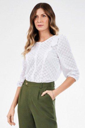 camisa feminina branca de laise nicoletta