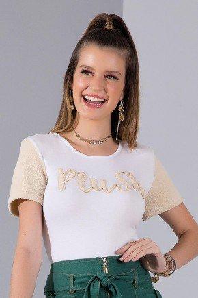 t shirt off white mangas pelo de carneiro imperio z 5