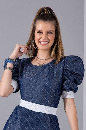 blusa feminina jeans mangas bufantes imperio z 5